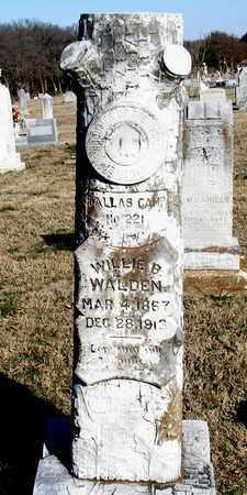 WALDEN, WILLIE B. - Collin County, Texas | WILLIE B. WALDEN - Texas Gravestone Photos