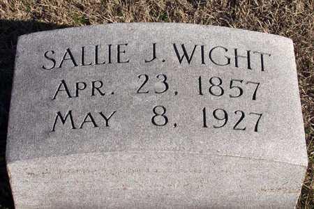 WIGHT, SALLIE J. - Collin County, Texas | SALLIE J. WIGHT - Texas Gravestone Photos