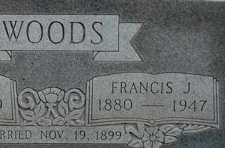 WOODS, FRANCIS J - Collin County, Texas | FRANCIS J WOODS - Texas Gravestone Photos