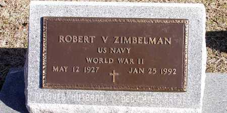 ZIMBELMAN (VETERAN WWII), ROBERT V - Collin County, Texas | ROBERT V ZIMBELMAN (VETERAN WWII) - Texas Gravestone Photos