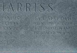 HARRISS, EVA - Collin County, Texas | EVA HARRISS - Texas Gravestone Photos