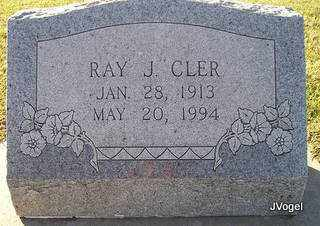 CLER, RAYMOND JOHN 'RAY' - Cooke County, Texas   RAYMOND JOHN 'RAY' CLER - Texas Gravestone Photos