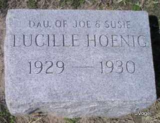 HOENIG, LUCILLE MARY - Cooke County, Texas | LUCILLE MARY HOENIG - Texas Gravestone Photos