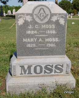 MOSS, MARY A. - Cooke County, Texas | MARY A. MOSS - Texas Gravestone Photos