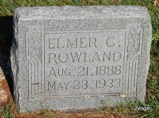 ROWLAND, ELMER CLEVELAND - Cooke County, Texas | ELMER CLEVELAND ROWLAND - Texas Gravestone Photos