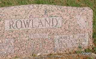 ROWLAND, JAMES E. 'JIM' - Cooke County, Texas | JAMES E. 'JIM' ROWLAND - Texas Gravestone Photos