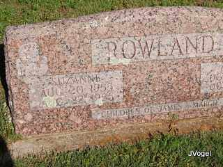 ROWLAND, SUZANNE - Cooke County, Texas | SUZANNE ROWLAND - Texas Gravestone Photos