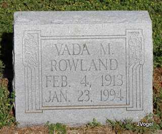 ROWLAND, VADA M. - Cooke County, Texas | VADA M. ROWLAND - Texas Gravestone Photos