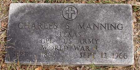 MANNING (VETERAN WWI), CHARLES S - Dallas County, Texas | CHARLES S MANNING (VETERAN WWI) - Texas Gravestone Photos