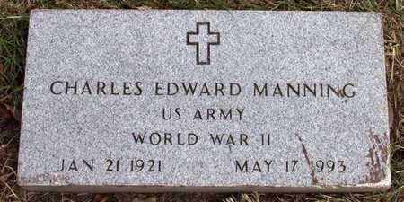 MANNING (VETERAN WWII), CHARLES EDWARD - Dallas County, Texas | CHARLES EDWARD MANNING (VETERAN WWII) - Texas Gravestone Photos