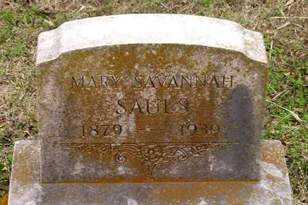 SAULS, MARY SAVANNAH - Dallas County, Texas   MARY SAVANNAH SAULS - Texas Gravestone Photos