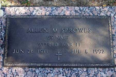 SPROWLS (VETERAN WWII), ALLEN M - Dallas County, Texas | ALLEN M SPROWLS (VETERAN WWII) - Texas Gravestone Photos