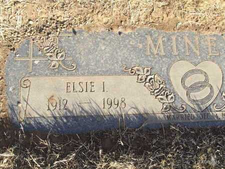 MINER, ELSIE I (CLOSE UP) - Deaf Smith County, Texas | ELSIE I (CLOSE UP) MINER - Texas Gravestone Photos