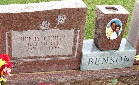 "BENSON, HENRY ""CHIEF"" - Denton County, Texas | HENRY ""CHIEF"" BENSON - Texas Gravestone Photos"