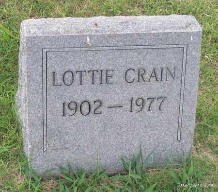 CRAIN, LOTTIE - Denton County, Texas | LOTTIE CRAIN - Texas Gravestone Photos