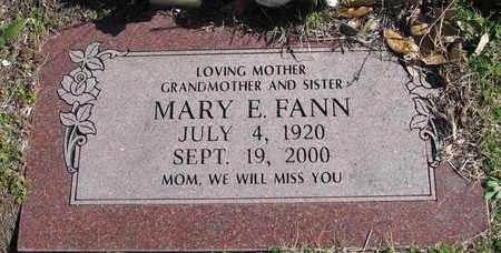 FANN, MARY E. - Denton County, Texas | MARY E. FANN - Texas Gravestone Photos