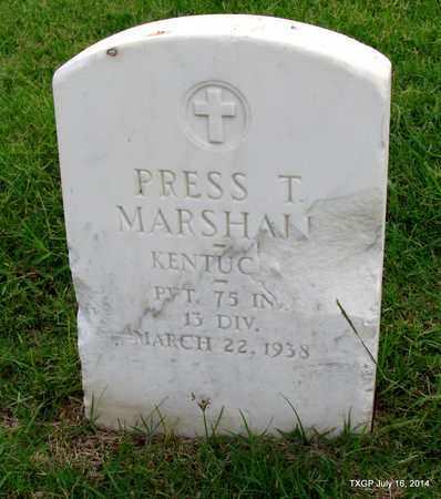 MARSHALL (VETERAN ), PRESS T - Denton County, Texas | PRESS T MARSHALL (VETERAN ) - Texas Gravestone Photos