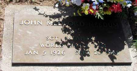 NEEDUM (VETERAN WWII), JOHN MEDFORD - Denton County, Texas | JOHN MEDFORD NEEDUM (VETERAN WWII) - Texas Gravestone Photos