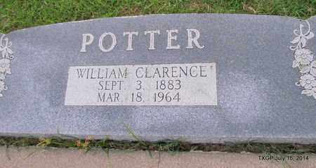 POTTER, WILLIAM CLARENCE (CLOSE UP) - Denton County, Texas | WILLIAM CLARENCE (CLOSE UP) POTTER - Texas Gravestone Photos