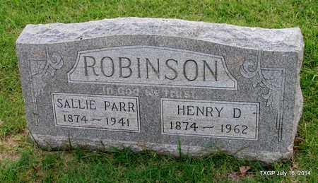 PARR ROBINSON, SALLIE - Denton County, Texas | SALLIE PARR ROBINSON - Texas Gravestone Photos