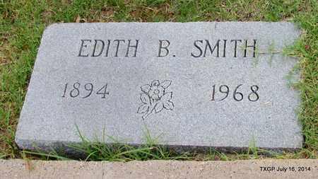 SMITH, EDITH B. - Denton County, Texas   EDITH B. SMITH - Texas Gravestone Photos