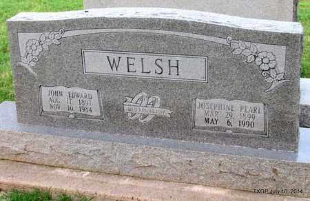 WELSH, JOHN EDWARD - Denton County, Texas   JOHN EDWARD WELSH - Texas Gravestone Photos