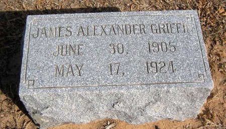 GRIFFIN, JAMES ALEXANDER - Eastland County, Texas   JAMES ALEXANDER GRIFFIN - Texas Gravestone Photos