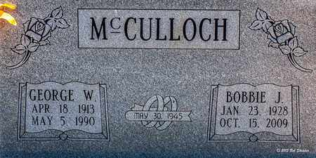 MCCULLOCH, GEORGE W - Eastland County, Texas | GEORGE W MCCULLOCH - Texas Gravestone Photos