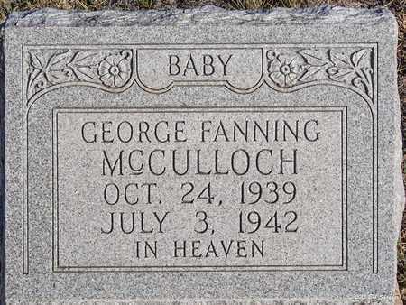 MCCULLOCH, GEORGE FANNING - Eastland County, Texas   GEORGE FANNING MCCULLOCH - Texas Gravestone Photos