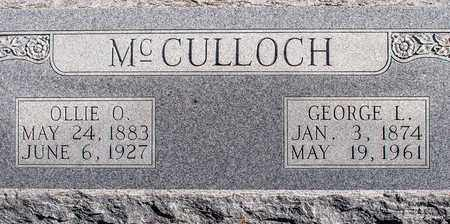 MCCULLOCH, GEORGE L - Eastland County, Texas | GEORGE L MCCULLOCH - Texas Gravestone Photos
