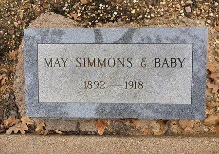 SIMMONS, MAY - Eastland County, Texas | MAY SIMMONS - Texas Gravestone Photos