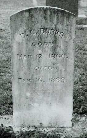 BURKS, D.C. - Ellis County, Texas | D.C. BURKS - Texas Gravestone Photos