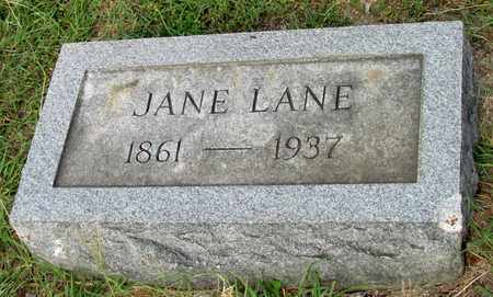 LANE, JANE - Ellis County, Texas | JANE LANE - Texas Gravestone Photos