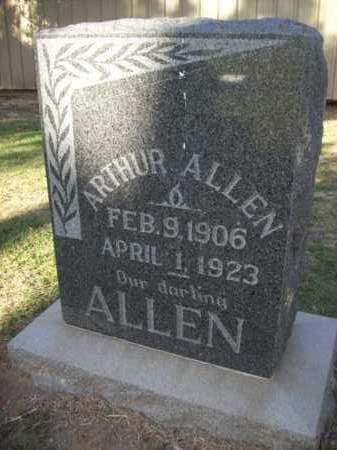 ALLEN, ARTHUR - Erath County, Texas | ARTHUR ALLEN - Texas Gravestone Photos