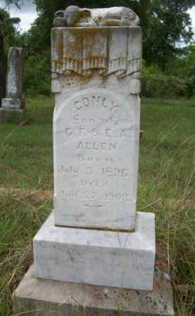 ALLEN, CONLY - Erath County, Texas | CONLY ALLEN - Texas Gravestone Photos