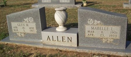 ALLEN, MABELLE L. - Erath County, Texas | MABELLE L. ALLEN - Texas Gravestone Photos