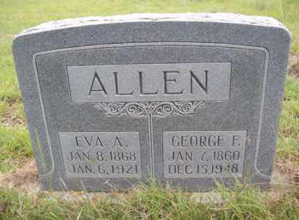 ALLEN, EVA ANGELINE - Erath County, Texas | EVA ANGELINE ALLEN - Texas Gravestone Photos