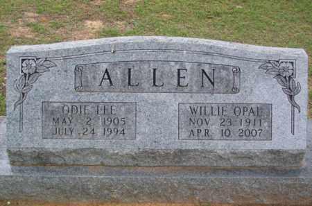 ALLEN, WILLIE OPAL - Erath County, Texas   WILLIE OPAL ALLEN - Texas Gravestone Photos