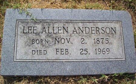 ANDERSON, LEE ALLEN - Erath County, Texas | LEE ALLEN ANDERSON - Texas Gravestone Photos