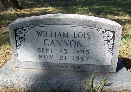 CANNON, WILLAIM LOIS - Erath County, Texas | WILLAIM LOIS CANNON - Texas Gravestone Photos