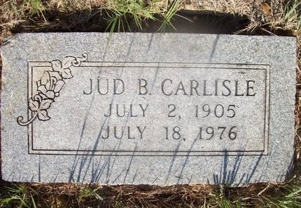 CARLISLE, JUD B. - Erath County, Texas | JUD B. CARLISLE - Texas Gravestone Photos