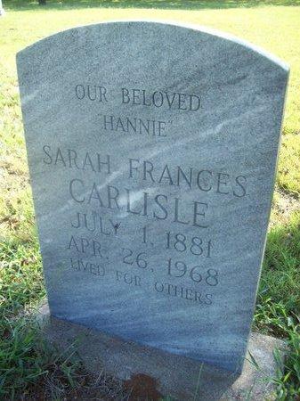 CARLISLE, SARAH FRANCES - Erath County, Texas | SARAH FRANCES CARLISLE - Texas Gravestone Photos