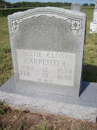 CARPENTER, BETTIE - Erath County, Texas | BETTIE CARPENTER - Texas Gravestone Photos