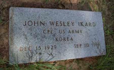 IKARD {VETERAN KOREA}, JOHN WESLEY - Erath County, Texas | JOHN WESLEY IKARD {VETERAN KOREA} - Texas Gravestone Photos