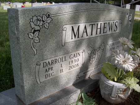 MATHEWS, DARROLL GAIN - Erath County, Texas | DARROLL GAIN MATHEWS - Texas Gravestone Photos
