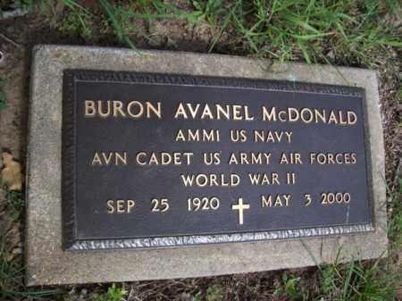 MCDONALD {VETERAN  WWII}, BURON AVANEL - Erath County, Texas   BURON AVANEL MCDONALD {VETERAN  WWII} - Texas Gravestone Photos