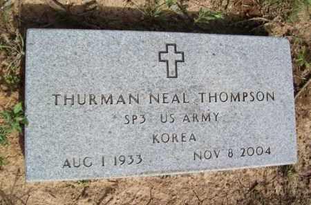 THOMPSON {VETERAN  KOREA}, THURMAN NEAL - Erath County, Texas   THURMAN NEAL THOMPSON {VETERAN  KOREA} - Texas Gravestone Photos