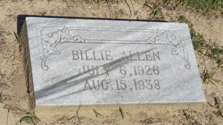 ALLEN, BILLIE - Franklin County, Texas | BILLIE ALLEN - Texas Gravestone Photos