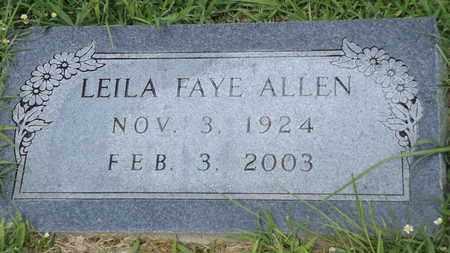 ALLEN, LEILA FAYE - Franklin County, Texas   LEILA FAYE ALLEN - Texas Gravestone Photos