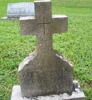 BARES, ALICE V - Galveston County, Texas | ALICE V BARES - Texas Gravestone Photos